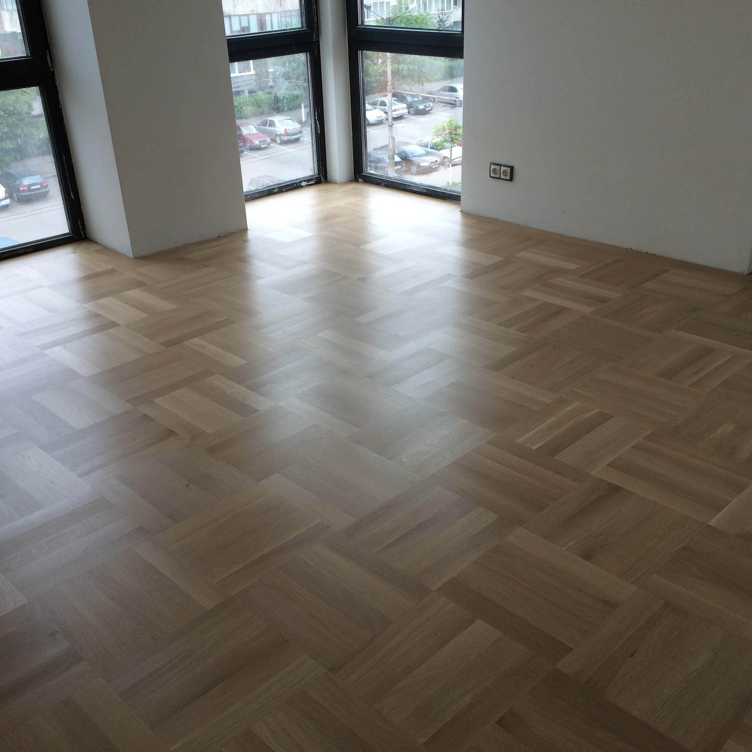 1.Oak Basketweave floor