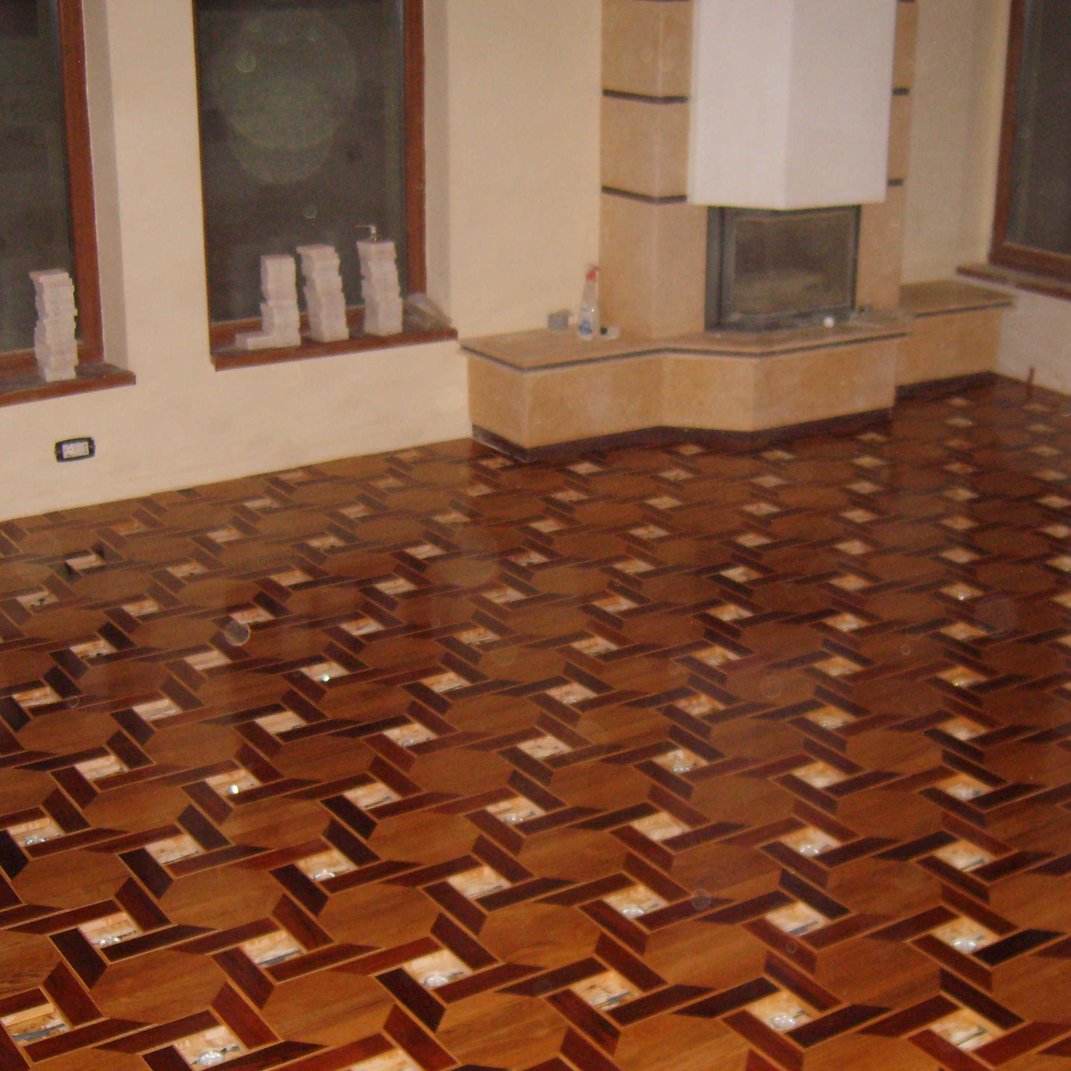 1.Hexagonal parquet floor