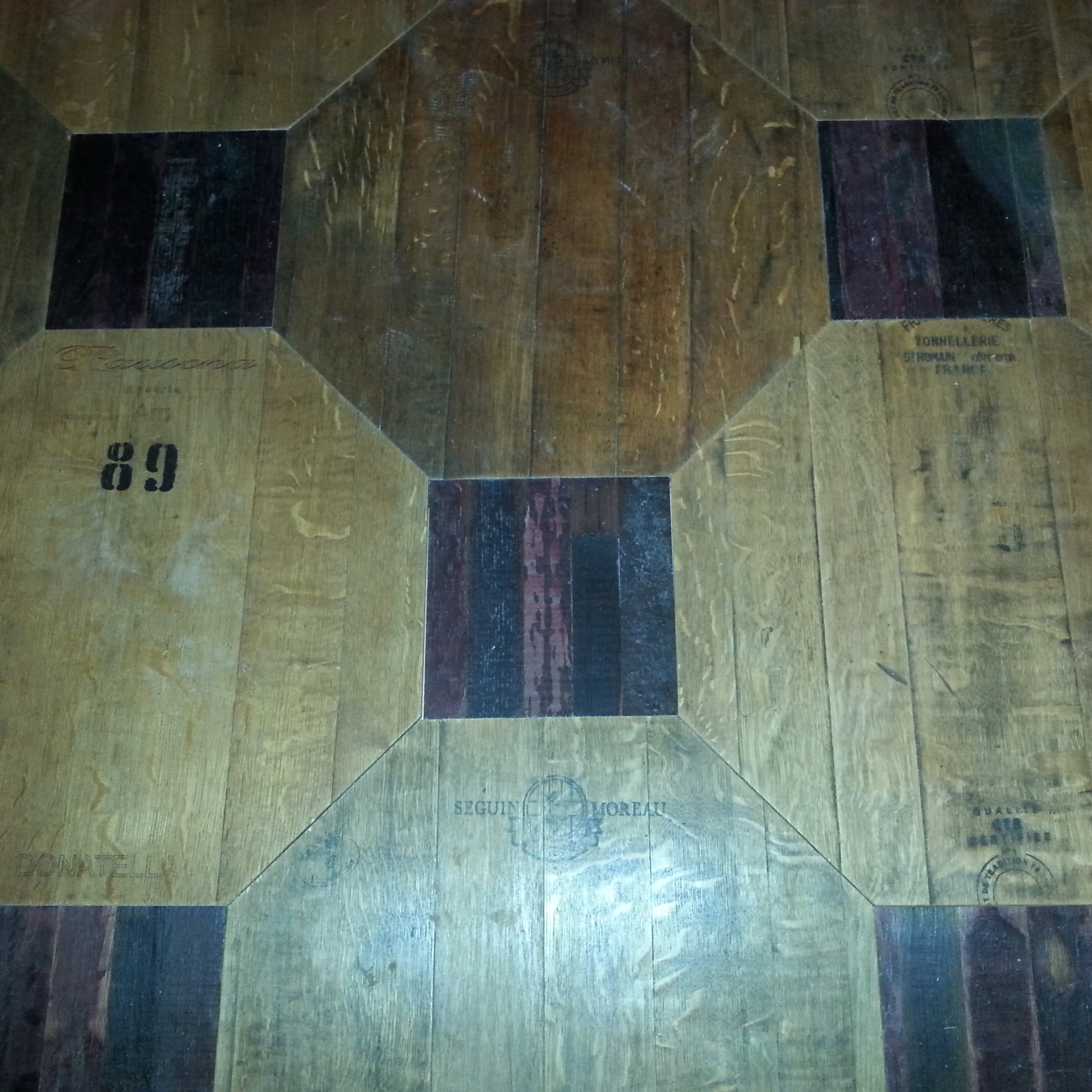 Hexagonal parquet fom old barrel
