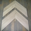 3. Chevron oak floor