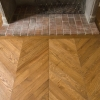 Chevron Flooring 500x90x20mm Oak Nevada
