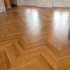 Chevron Flooring 500x90x20mm Oak Standard  Nature oiled