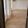 Chevron Flooring 500x90x20mm white oiles