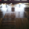 6.Smoked oak flooring basket weave install