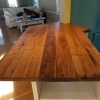 Old oak table finished epoxi resin