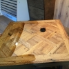 5.Antique old oak coffe table